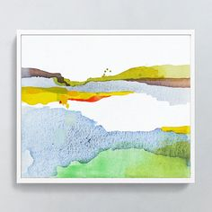 A modern fine art print of one of my original landscape-inspired abstract paintings. The perfect statement piece to set a mood in a variety of interiors.  Title: Silted River  -- INCLUDES -- * One print (not an original), unframed * Signed & numbered on the white border in pencil * Limited edition, each print sold is well-documented  -- OPTIONS -- * Pricing & sizes are found in the drop down menu * Image sizes are as listed, but print also has 1 white border for handling & matting...