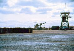 Holloway Tower and OH-23G - Pleiku 1966/72 - - Photo by Roger Weaver