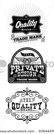 Stock Vector Illustration:  Vintage Styled Premium Quality label banner collection set