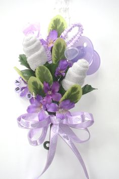 Baby Shower Corsage / Baby Washcloth Corsage / Reusable Items /Baby Girl New Mom Corsage Baby Shower Crafts, Baby Shower Fun, Baby Shower Gender Reveal, Baby Crafts, Baby Shower Parties, Shower Gifts, Baby Shower Themes, Shower Ideas, Baby Showers