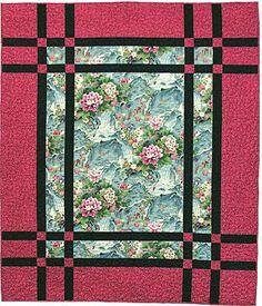 shiboridragon.com pattern Prairie Window - great for those 'I just can't cut it' fabrics