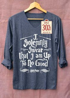 I Solemnly Swear Shirt Harry Potter Shirts Long por topsfreeday