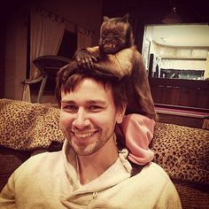 Torrance Coombs hanging out with Crystal (star of Night at the Museum, Hangover 2) back in March.