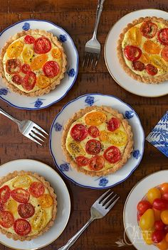 Goat Cheese and Tomato Souffle Tarts - Delicious and make ahead, perfect for special celebrations. Everyone seems to love them!