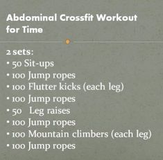 Ab Crossfit workout