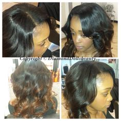 "14"" Famoushair installed custom coloured and styled by Diamond Dolls Beauty"