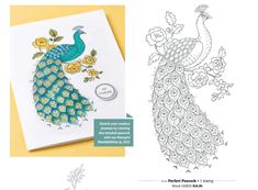 "Stampin up ""Perfect Peacock""  