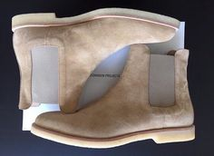 Common Projects Tan Chelsea Boots