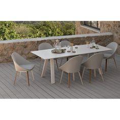 Ensemble repas Vanity, table et 6 chaises Vlaemynck