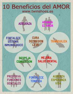 Infografía 10 Beneficios del #Amor
