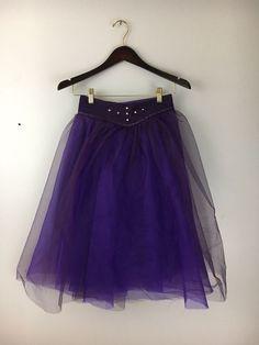 Girls Dance Halloween Costume Purple Overlay Rhinestone Snap on Skirt  | eBay