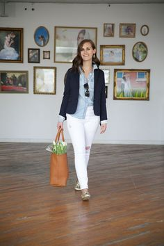 my everyday style: chambray and white denim!