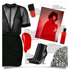"""""""// 256."""" by peachyclouds ❤ liked on Polyvore featuring Balmain, MANGO, Christian Louboutin, Burberry and Gucci"""