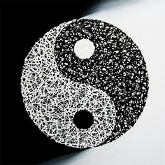 Matrix Yin Yang - Original Painting on Canvas, Acrylic, Yin Yang, Feng Shui, The Magic Faraway Tree, Paint Shop, Textile Patterns, Pattern Wallpaper, Etsy Store, Mosaic, Original Paintings