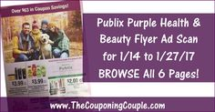 ***Publix Purple Health-Beauty Flyer Scan for 1-14 to 1-27-17*** Click the Picture below to BROWSE All 6 Pages of the Purple Flyer ► http://www.thecouponingcouple.com/publix-purple-health-beauty-flyer-scan-for-1-14-to-1-27-17/  Use the SHARE button below the Picture to SHARE this Deal with your Family and Friends!  #Coupons #Couponing #CouponCommunity  Visit us at http://www.thecouponingcouple.com for more great posts!