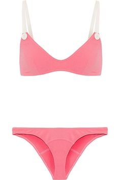 80aacb141a Kendall Jenner's Cannes Vacation Style | Who What Wear Lisa Marie  Fernandez, Pink Bikini,