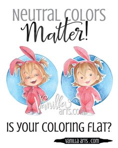 Is Your Coloring Flat? Why you need to own lots of ugly Copic Markers — Vanilla Arts Co. Copic Marker Art, Copic Pens, Copic Art, Copics, Prismacolor, Sketch Markers, Coloring Tips, Adult Coloring, Coloring Books