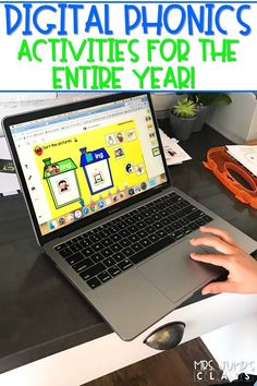 Check out this digital phonics resource right now! No-prep and so simple for distance learning. 36 weeks of phonics practice for kindergarten and 1st grade.
