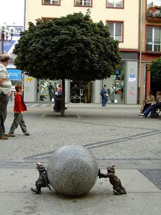 Wroclaw, Poland has a number of gnomes in the city centre and it is common for the tourists to go gnome-hunting around town to see and capture them all