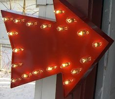 Red arrow light up wall sign by HitandMissLimited on Etsy, $165.00