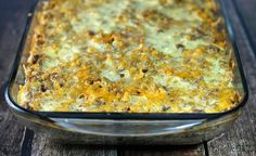 Sausage and Stuffing Brunch Bake - SO good and just 263 calories or 7 Weight Watchers points per serving!