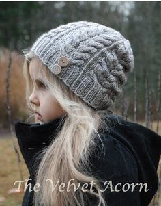 KNITTING PATTERN-The Serenity Hat Toddler Child Adult