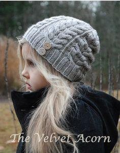 Lavoro a maglia cappello di serenità PATTERN-The di Thevelvetacorn