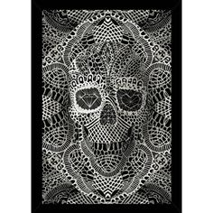 Lace Skull With Choice of Frame