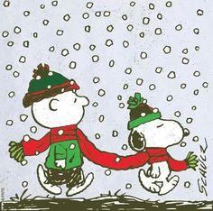 Charlie Brown and Snoopy / Peanuts Gang Peanuts Christmas, Charlie Brown Christmas, Charlie Brown And Snoopy, Winter Christmas, Xmas, Retro Christmas, Christmas Holiday, Snoopy Feliz, Snoopy Love