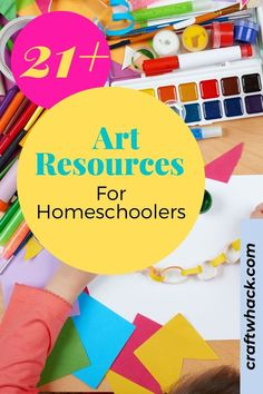 Homeschooling is not only about teaching the three R's, children need creative outlets to expand their brain capacities as well. Craftwhack appreciates your concerns and has put together an art resource that includes more than 21 ideas, projects, and lessons to offer your children. Imagination sharpens the mind far more than memorization. This can also be a quality time moment if you join your children in these creative activities. Learn more… #art4homeschoolers #art #homeschoolers
