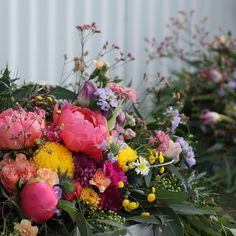 Bright barrel top flower arrangements - peonies, disbuds, stock @dittodittoflorals Peony Flower, Peonies, Flower Arrangements, Florals, Barrel, Our Wedding, Floral Wreath, Bright, Wreaths