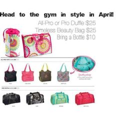 Bundle And Save In April With A 31 Gym Bag Only Available