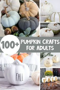 Make crafting fun this fall with this list of 100+ Pumpkin Crafts for Adults! Find all kinds of DIY Fall Home Decor you can make yourself! Pumpkin Crafts for Adults | Pumpkin DIY | Pumpkin Home Decor | Fall Crafts for Adults | DIY Fall Home Decor | Fall DIY | Fall Craft Project | Down Redbud Drive #pumpkins #pumpkincraft #diy #fallhomedecor #fallcraft Fall Crafts For Adults, Diy Crafts For Kids, Fun Crafts, Fall Pumpkin Crafts, Diy Pumpkin, Pumpkin Spice, Halloween Home Decor, Halloween Crafts, Halloween Party