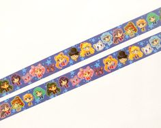 Show your love of Sailor Moon with this adorable washi tape with all the senshis, plus Tuxedo Mask and the three cats! Listing is for 1 washi tape roll, or pick a set from the drop down menu. Makes a great gift for any washi tape collectors :) ● Measurements: - 1.5cm (0.6 in.) x 10m (33 ft.) ● Washi Tapes are perfect to decorate your planner, use as label tags, decoration for scrapbook, invitations, gift-wrapping, and more! They are printed on rice paper and can be written over, removed…