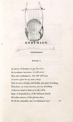 Charles Brown's copy of Endymion by John Keats.