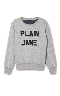 """Plain Jane"" Sweatshirt by Ashish for Preorder on Moda Operandi"