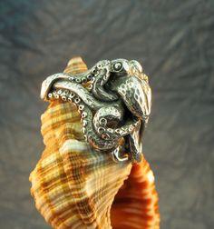 Silver Octopus Ring. $155.00, via Etsy.