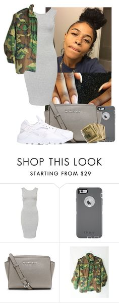 """Trill outfit #67"" by msixo ❤ liked on Polyvore featuring OtterBox, MICHAEL Michael Kors and NIKE"