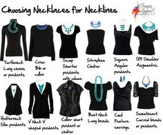 Necklace for your neckline.