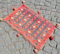 Anatolia Turkish Mini Kilim 20 x 33 Vintage Hand Woven Wool Van Rug 52 x 85 cm