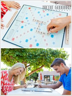 Engaged couple. LOVE. Santa Barbara, CA. Scrabble.  © Nicole Goddard Photography | www.nicolegoddard.com