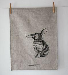 Baby Bunny Tea Towel Natural