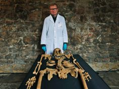Skeletons of Black Death victims discovered during excavations for London Crossrail.   Sunday 30 March 2014