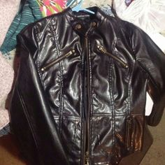 Poetry soft leather jacket Like new. No imperfections and all zippers work. Snap button embellishments around colour. Zipper embellishments around pockets. Poetry Jackets & Coats