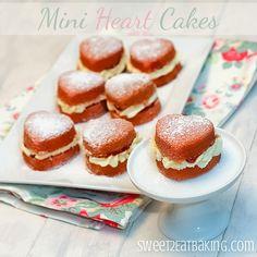 Love! | Victoria Sponge Mini Heart Cakes | @Sweet to Eat Baking