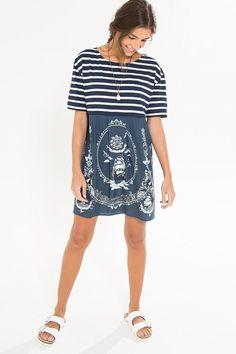 vestido listras cheiro de mar | FARM