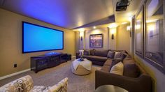 Curl up in this cozy #media room at Tucker Hill in #McKinney.