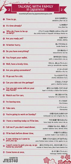 How to talk to your family members in Japanese part 2 Source