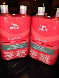 wella brilliance shampoo + conditioner , I absolutely love this stuff for fine to normal hair!
