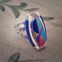Vintage Roderick Tenorio Southwestern Ring!! Ooo La La!